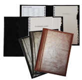Glazed Leather Planner Covers