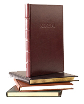 hard cover bonded leather journals with gilt edges