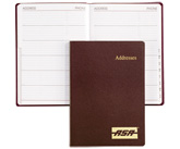 bonded leather address book